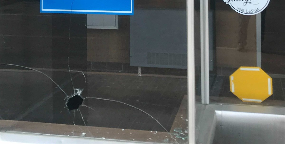 Alberta Education Minister Adriana LaGrange said a rock was thrown through her office window on Tuesday, April 6, 2021.