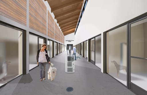 Artist rendering of the dog kennels for the new Peterborough Animal Care Centre.