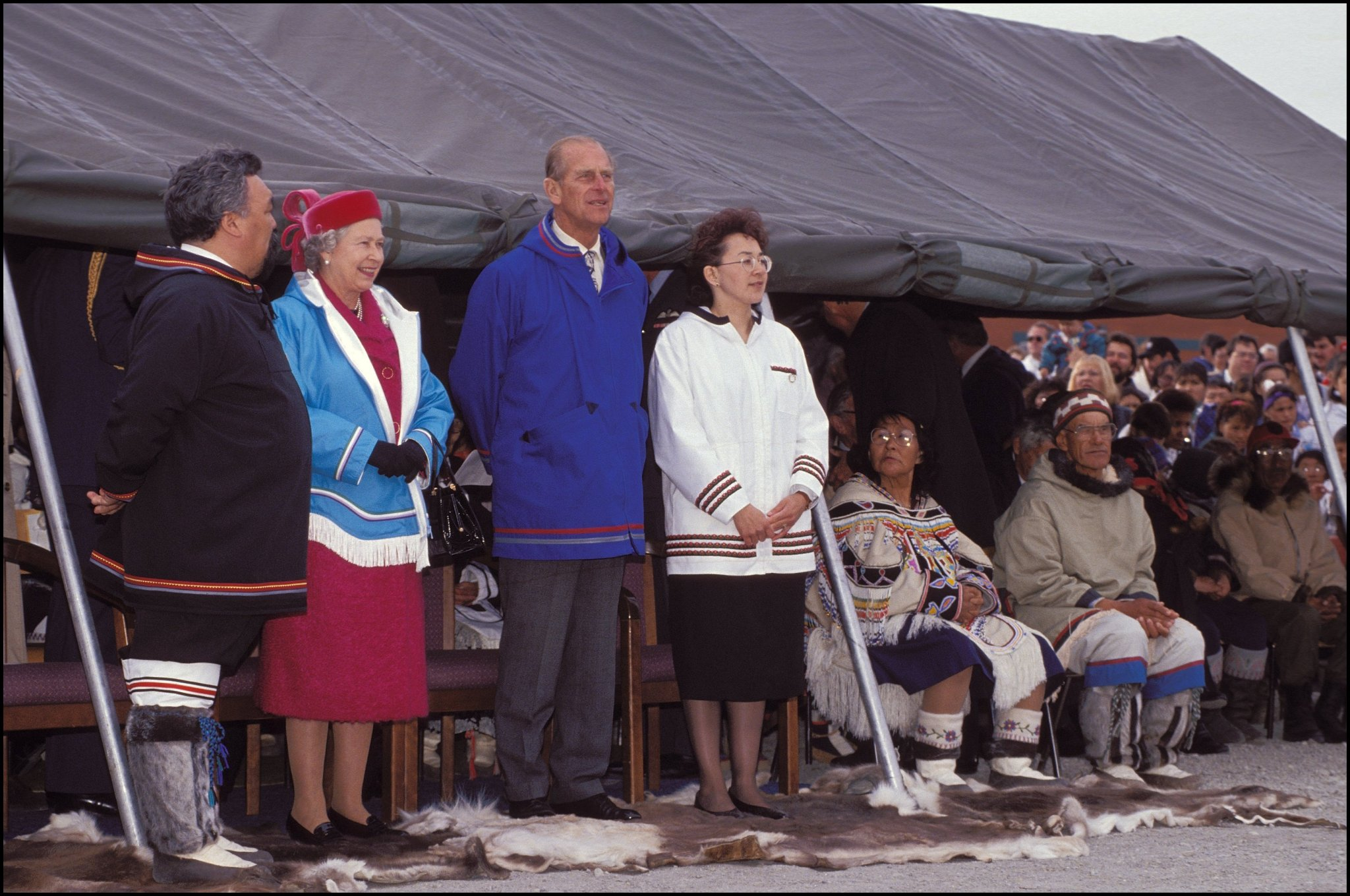 Queen Elizabeth II and Prince Philip in Canada on Aug. 22, 1994.