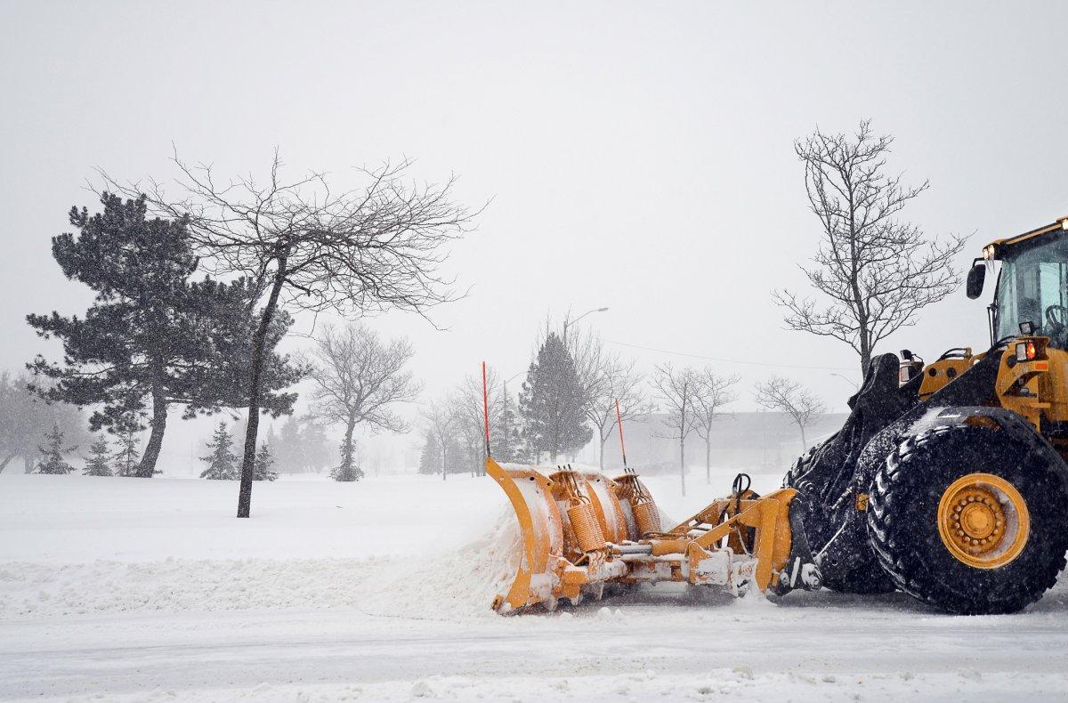 City of Winnipeg crews are cleaning Winnipeg streets.