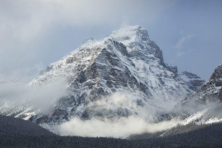Sheol Mountain and Haddo Peak in Banff National Park.