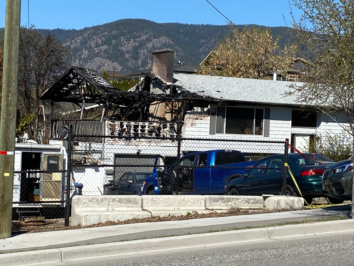 A family and their pets were able to flee a fire that broke out in their home on the 2600-block of Boucherie Road.