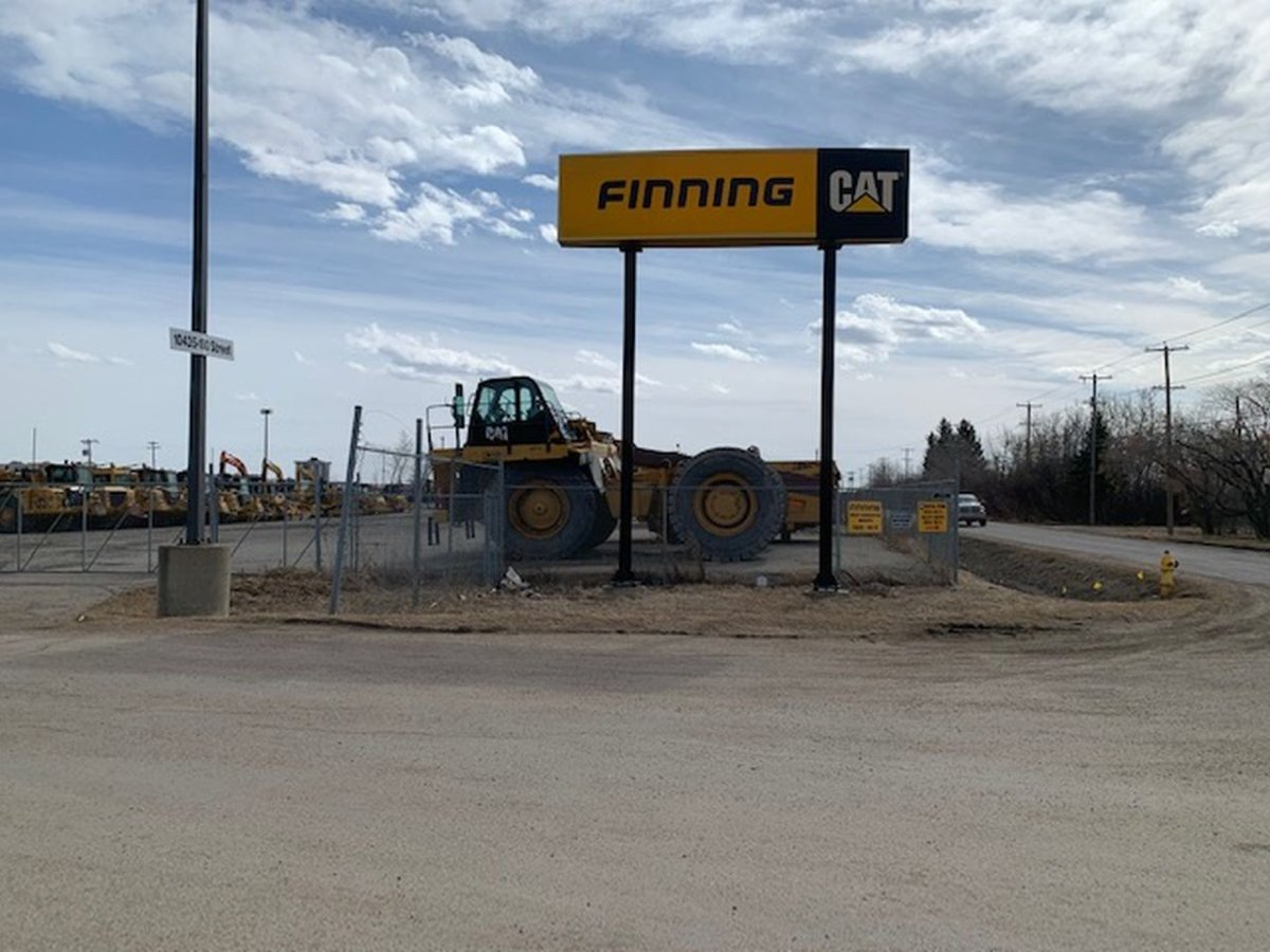 The workplace death happened after an employee was hurt while servicing an excavator in the Finning Canada yard near 180 Street and 104 Avenue on Wednesday, March 31, 2021.