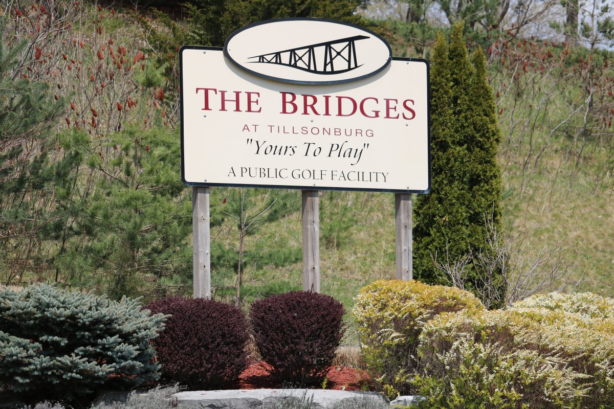 The Bridges at Tillsonburg golf course has remained open in defiance of Ontario's stay-at-home order. April 24, 2021.