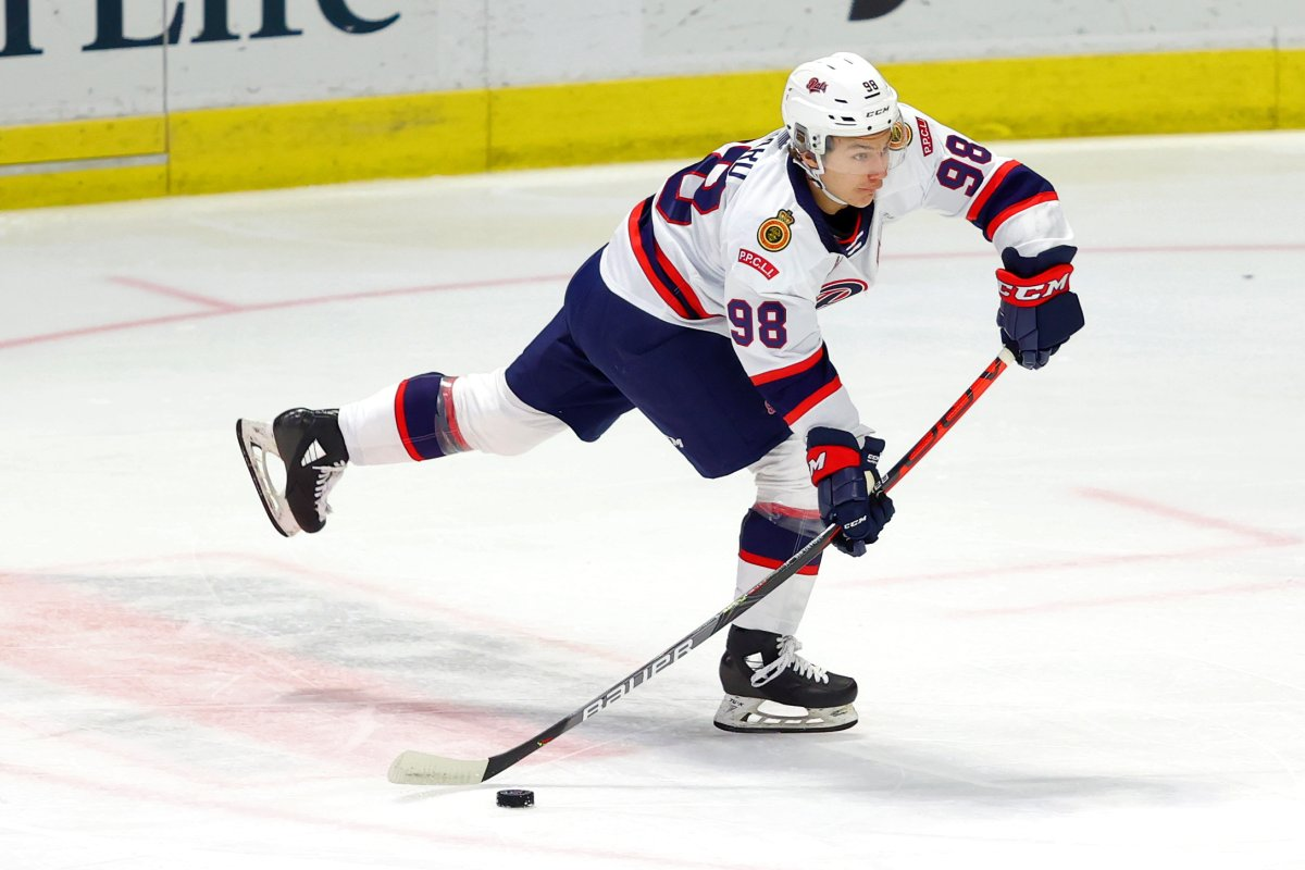 Connor Bedard, seen here playing for the Regina Pats, is the first 15-year-old to have been granted exceptional status to play in the Western Hockey League. In the fall, he travelled to Sweden to practice and play with HV71.