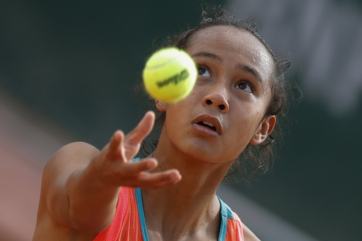 Canada's Leylah Fernandez made short work of opponent Zhang Shuai of China, beating the No. 16 seed in the opening round of the Volvo Car Open in Charleston, South Carolina on Tuesday, April 6, 2021. File.