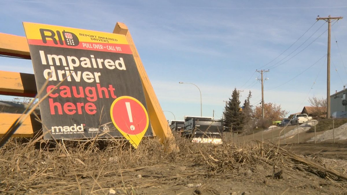 MADD Canada says its sign campaign in four Saskatchewan communities is part of an awareness campaign to highlight the dangers of impaired driving.