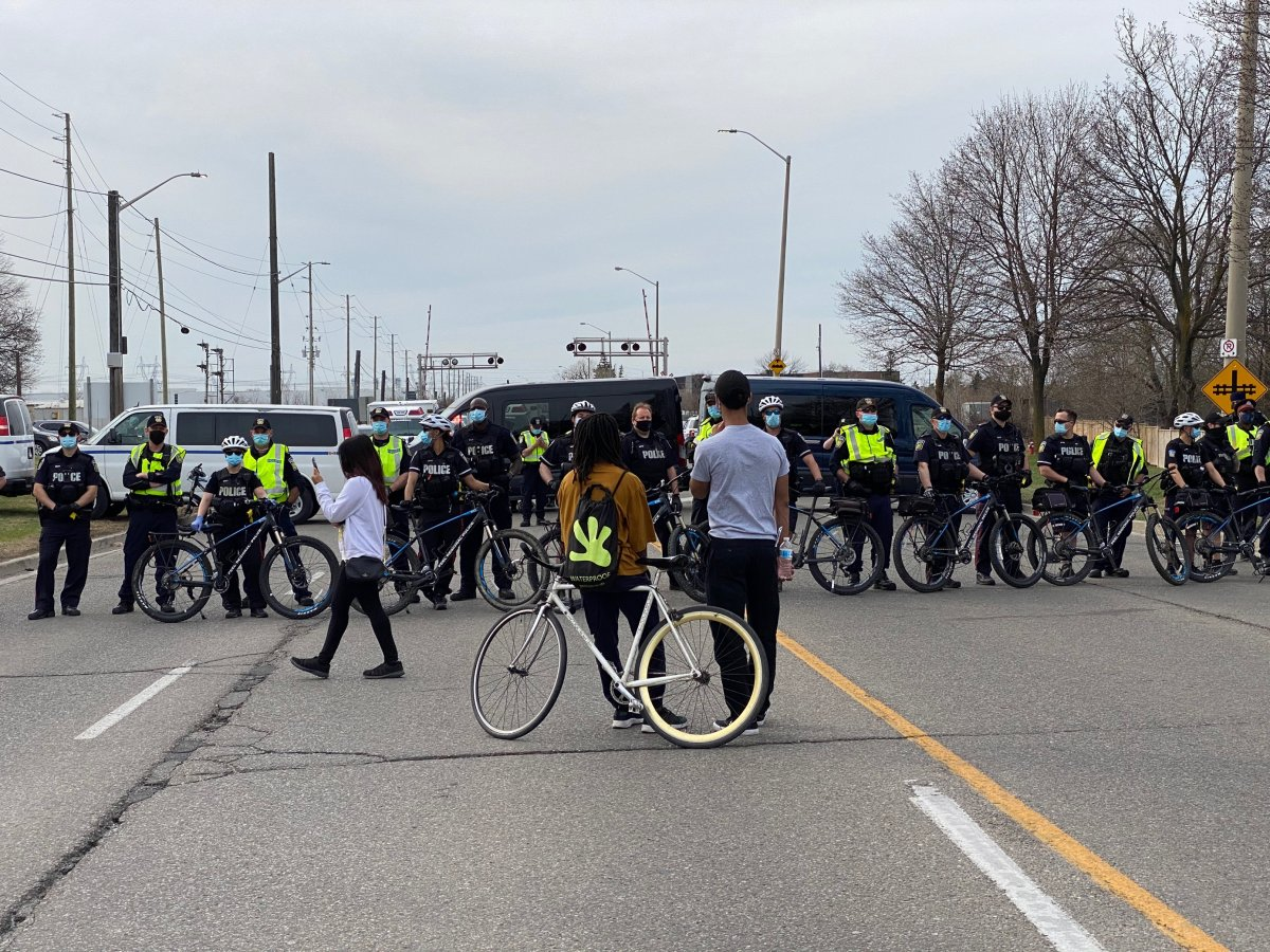 Seven people have been arrested after a demonstration for the SIU fatal shooting of Ejaz Choudry.