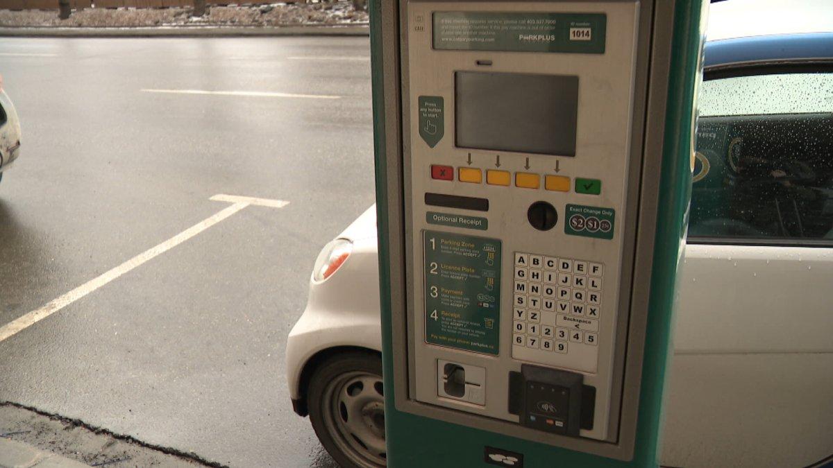 A parking meter in Calgary.