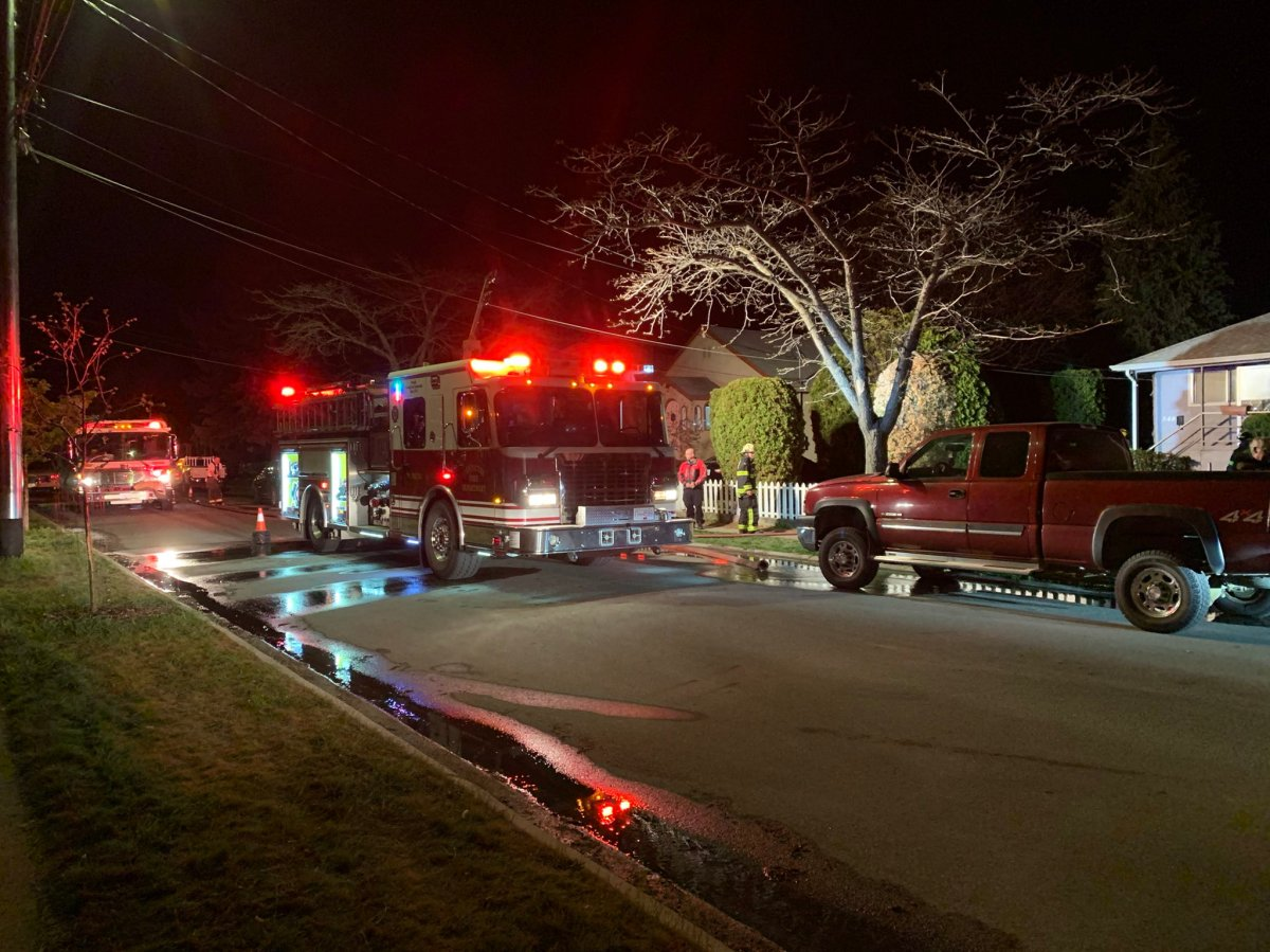 Two people were left homeless after a damaging residential fire in Penticton, B.C., on Wednesday, April 21, 2021.