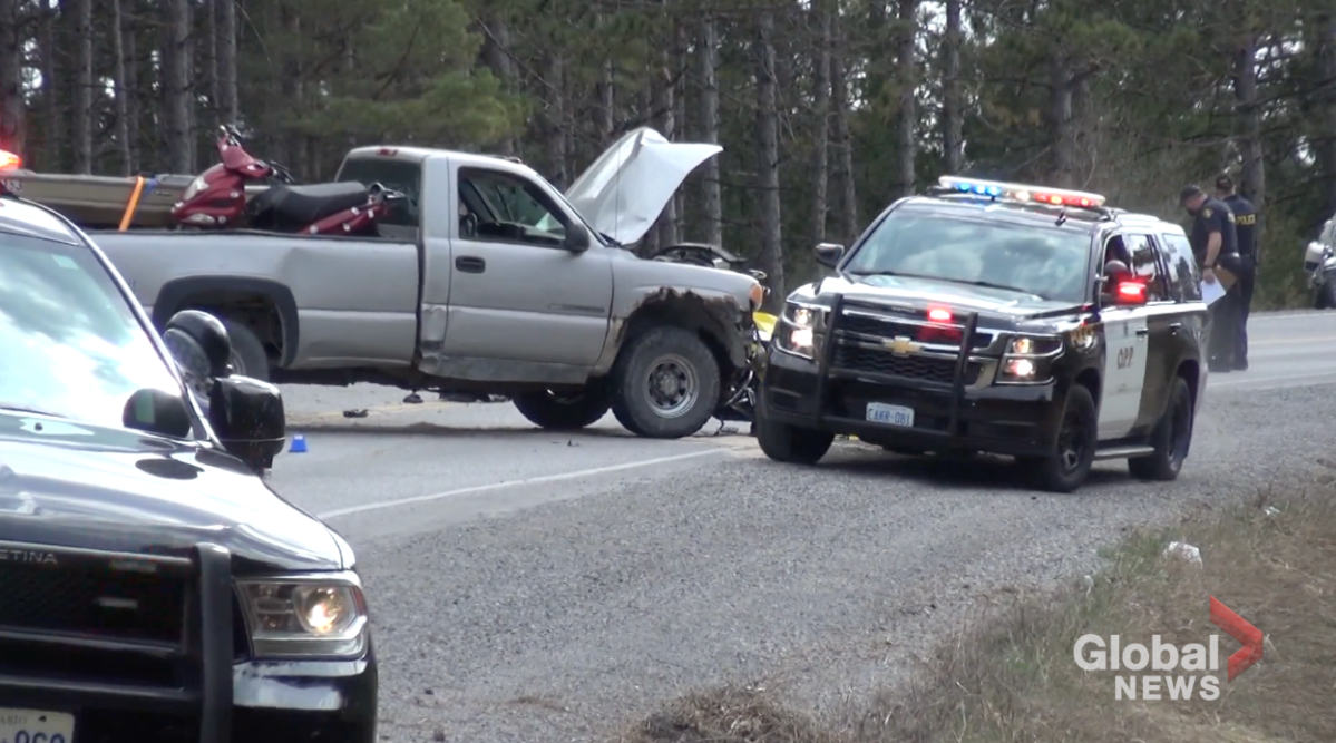 A motorcyclist died following a collision in the City of Kawartha Lakes on Saturday.