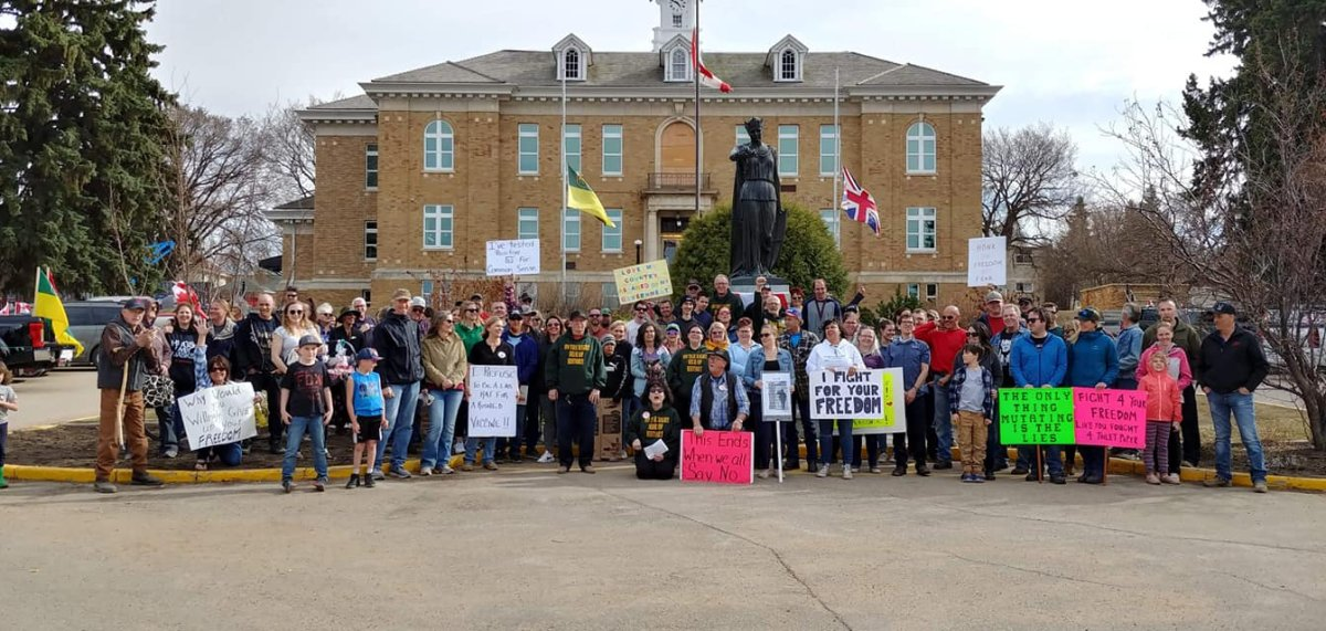 Attendees at a 'Freedom Rally' in Prince Albert are being told to self-isolate after an increased risk of exposure to COVID-19.
