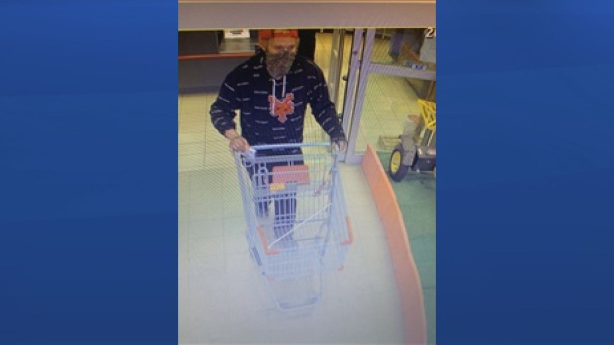 Regina police are looking for a man who allegedly stole merchandise from a retail store and threatened loss prevention officers with a firearm.