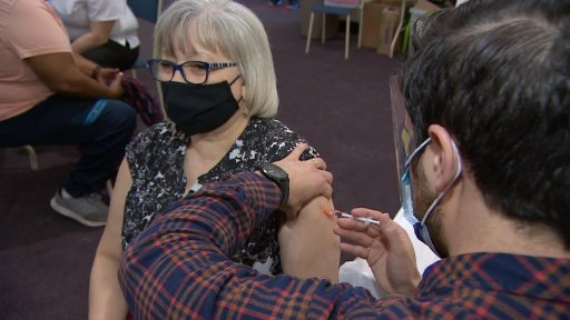 Reverend Andrea Anderson was the first person to receive her vaccine at the province's first African Nova Scotian clinic.