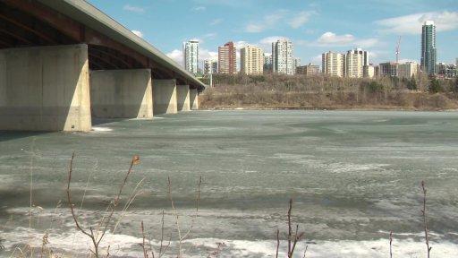 The Groat Road bridge over the North Saskatchewan River on Tuesday, April 6, 2021.