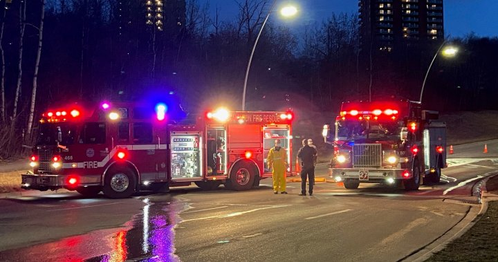 Charges pending, traffic disrupted after multiple fires in Edmonton's river valley