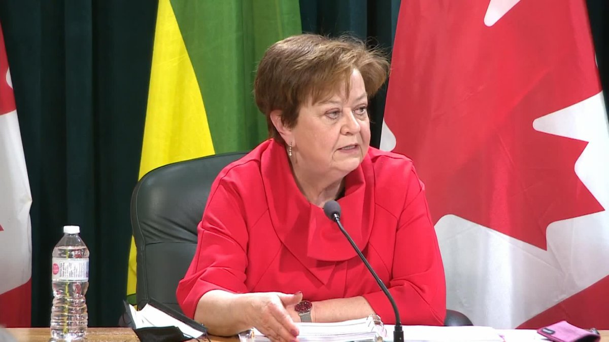 Finance Minister Donna Harpauer said the year-end deficit for the 2020-21 fiscal year is $1.13 billion, a decrease of $1.3 billion from the budget.