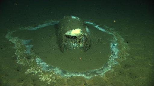 Barrel on bottom of ocean