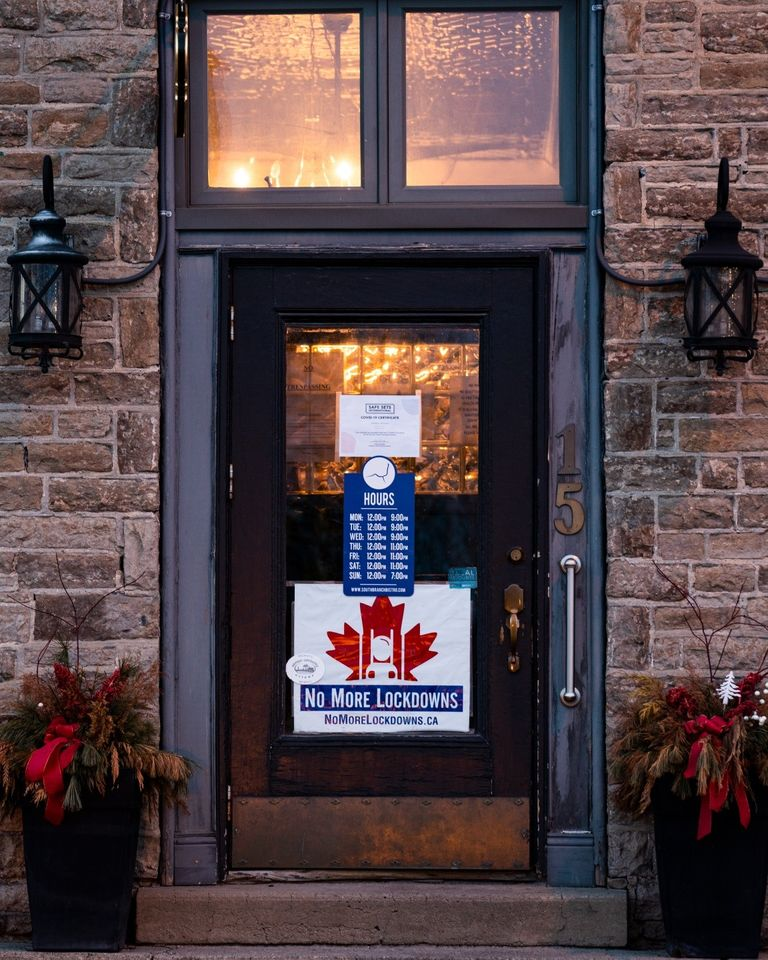 South Branch Bistro in Kemptville, Ont., is closed after hosting an anti-lockdown protest last month.