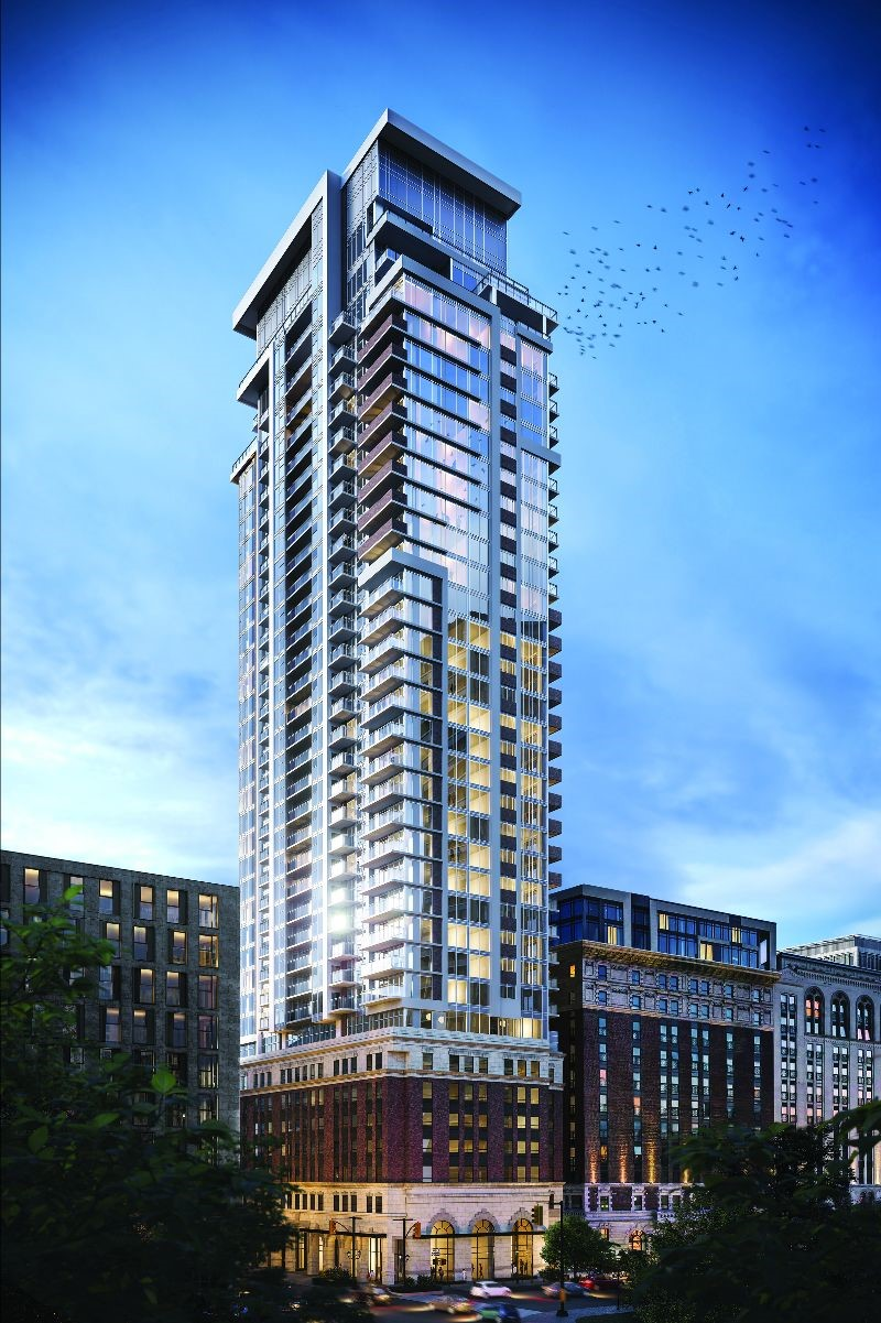 The Moderne, rising 36 storeys, will stand as one of the tallest condominium towers in Downtown Hamilton.