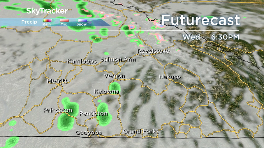 There is a chance of a few showers on Wednesday.