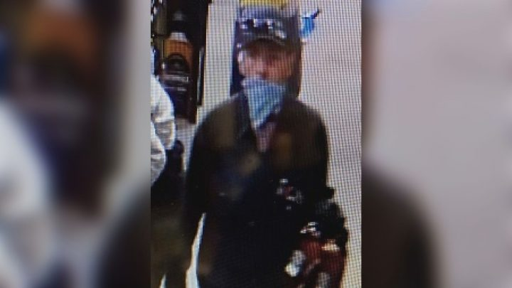 Vernon RCMP is asking the public to identify this robbery suspect.