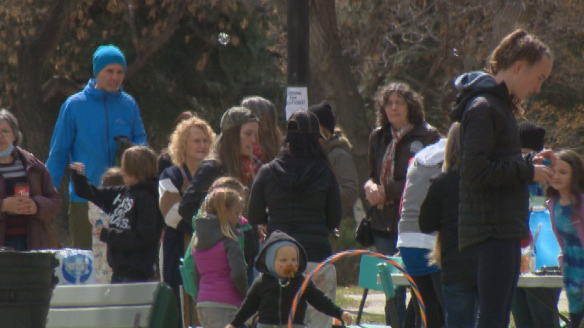 Saskatoon police said 11 attendees at a rally on April 24 — who police called key participants — are being cited for breaching the province's public health orders.