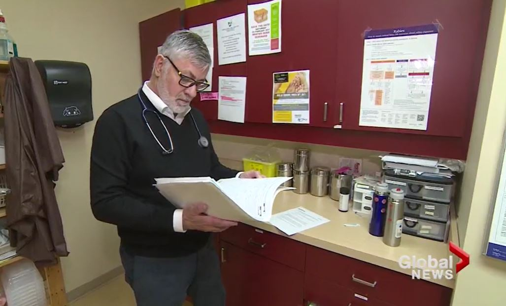 Investigators have charged Graeme Bethune, 74, seen here in a 2017 Global News story, with one count of sexual assault.