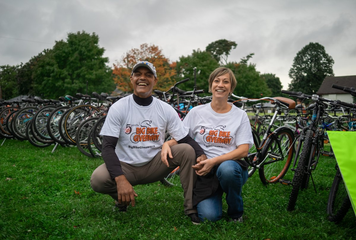 Co-founders of Big Bike Giveaway, Shayne and Monica Hodgson.