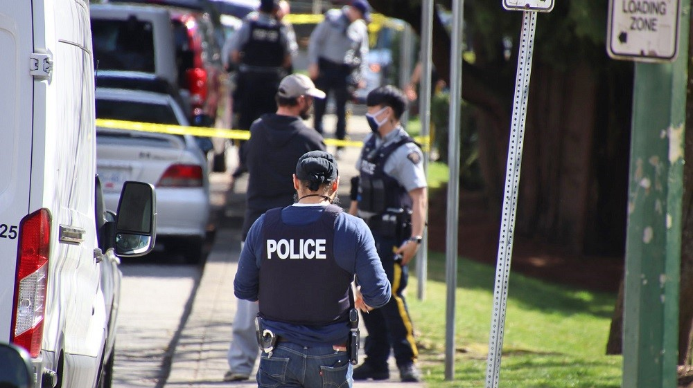 RCMP respond to a daylight shooting in Coqutilam on Easter Sunday, 2021.