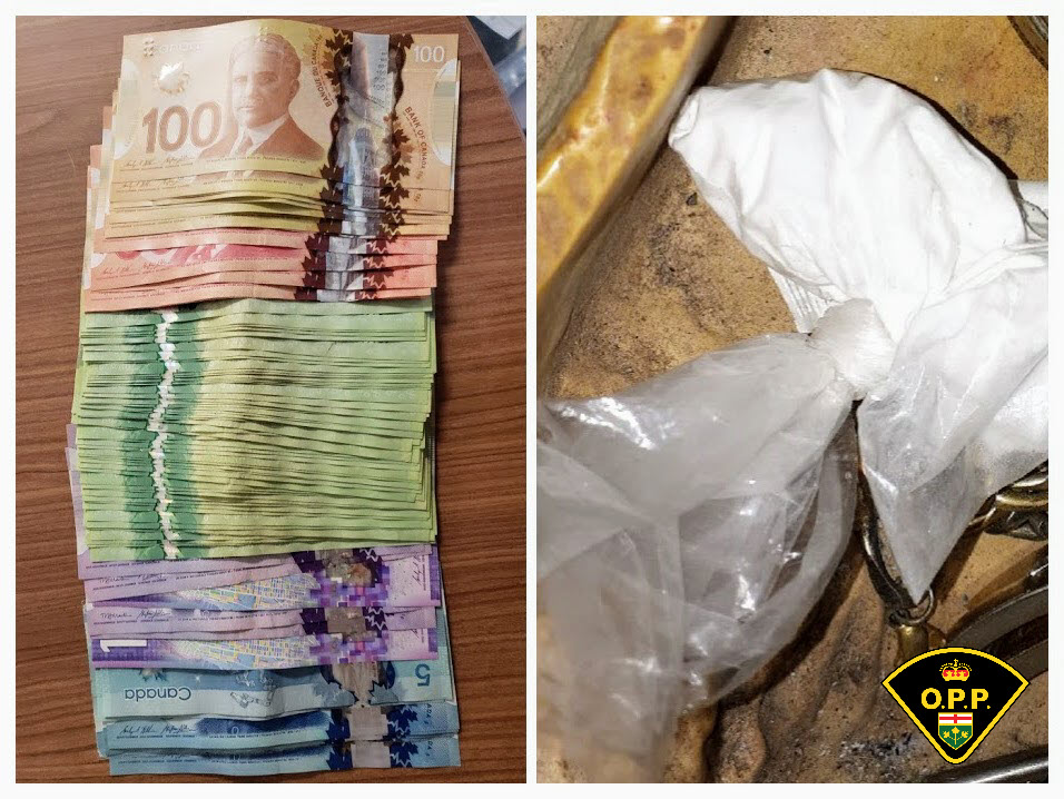 A quantity of suspected cocaine, fentanyl, Percocet pills, and approximately $2,200 in cash were seized in a drug investigation in Northumberland County.