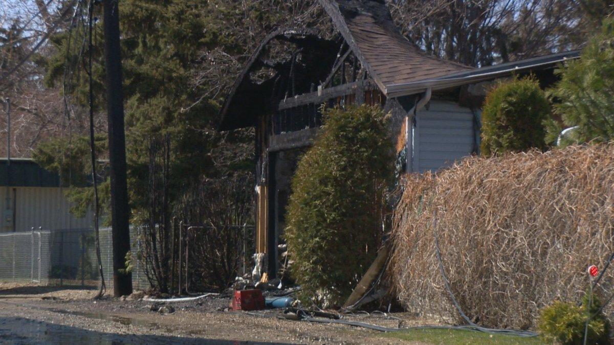 Saskatoon fire crews responded to a detached garage fire in the city's Montgomery neighbourhood.