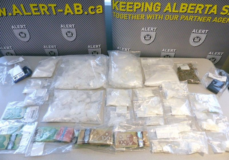 ALERT said over $225,000 worth of drugs and cash were discovered during the search of four homes on March 30, 2021.