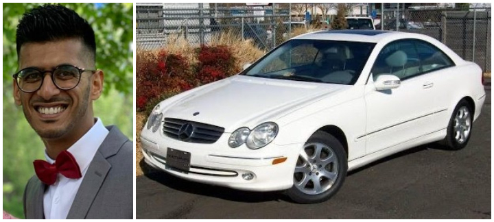 Calgary police say Adam Ankur Sajan, 27, is missing. He drives a car similar to this one.