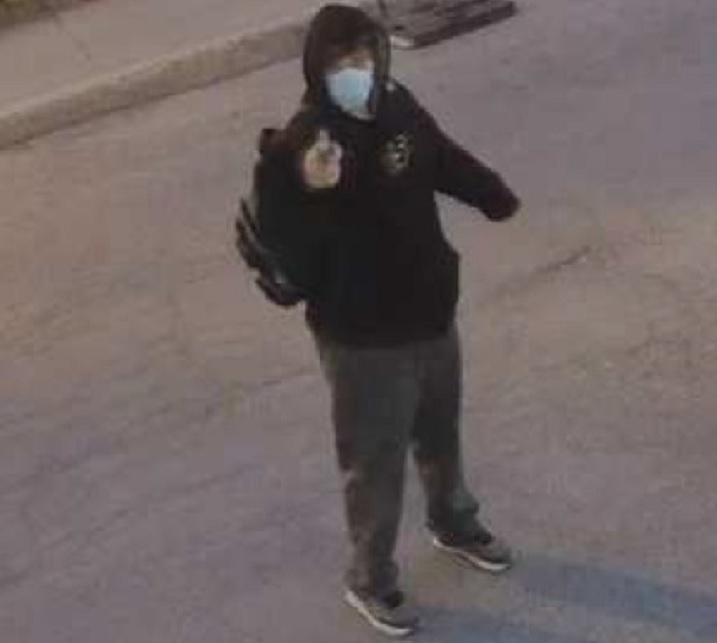 Montreal police are asking for the public's help in indentifying a man wanted in connection with a shooting at mosque in Rosemont. Friday, April 16, 2021.