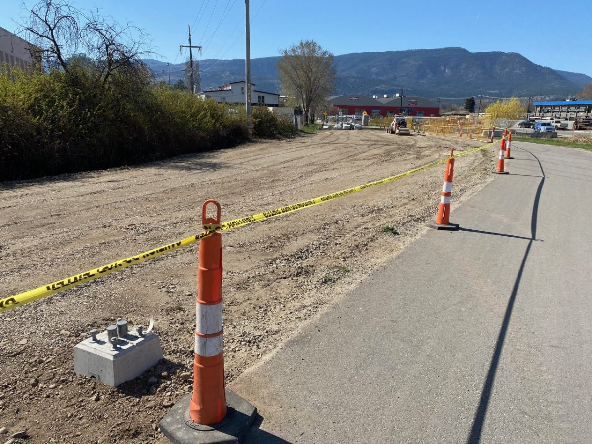 The city is preparing a new outdoor homeless sheltering site near the Rail Trail and Richter Street.