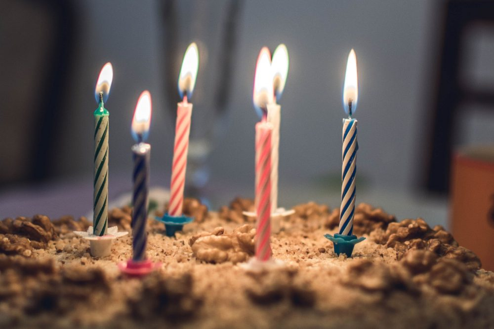 A birthday cake is shown in this file photo.