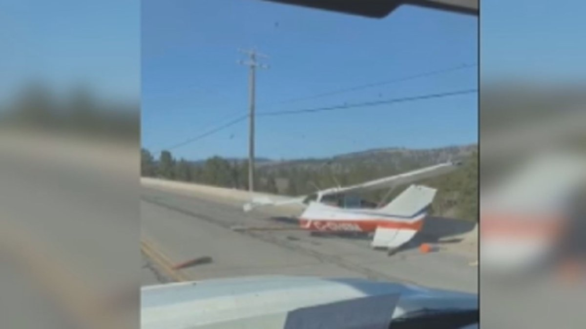 The highway near Princeton was closed for hours after a Cessna crashed during takeoff.