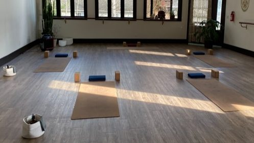 A Revelstoke business owner believes pandemic orders should be adjusted to meet regional needs in B.C. Alchemy Yoga Studio was fined for hosting five people in an indoor class, April 8, 2021.