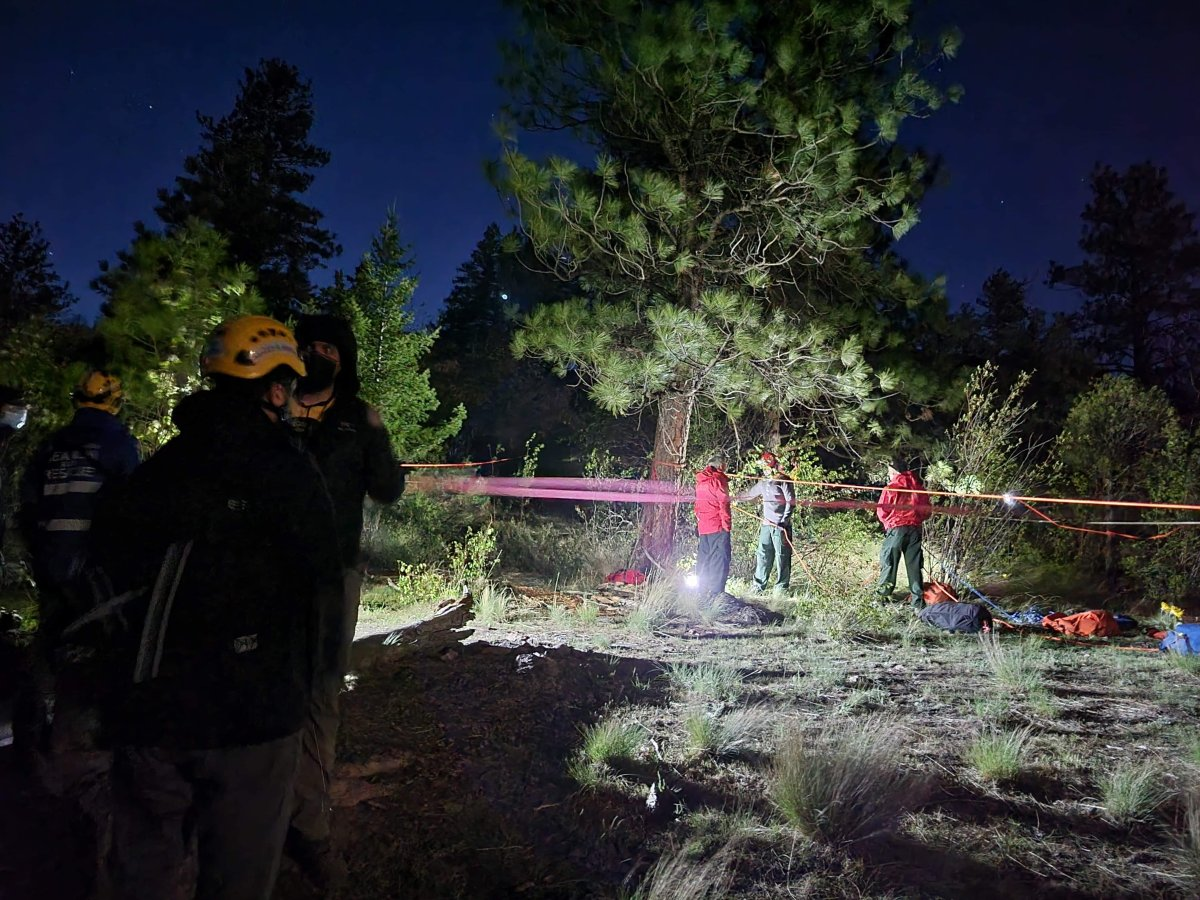 Central Okanagan Search and Rescue rescued two hikers struck on Pincushion Mountain Monday night.