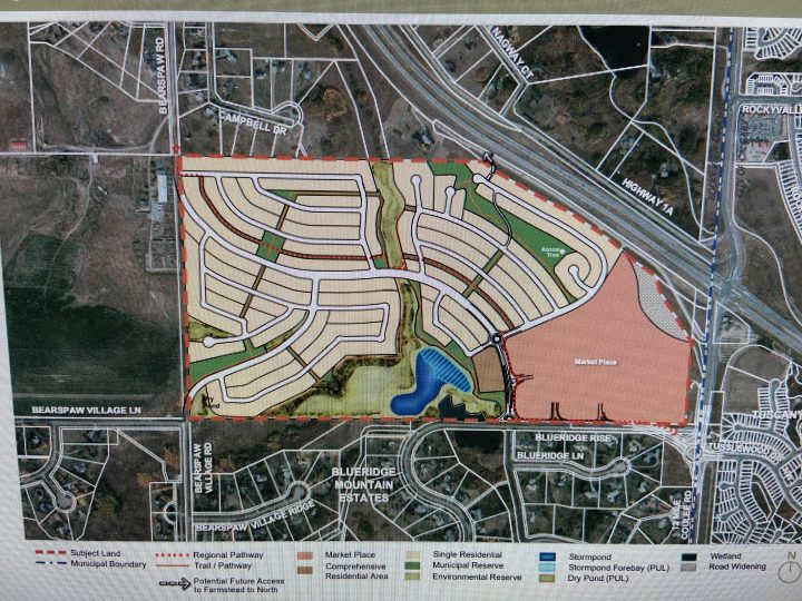 Map of proposed Ascension project in Rocky View County.