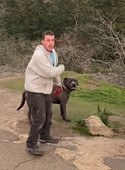 Do you recognize this man and his dog? Saanich police are hoping you can help identify them.