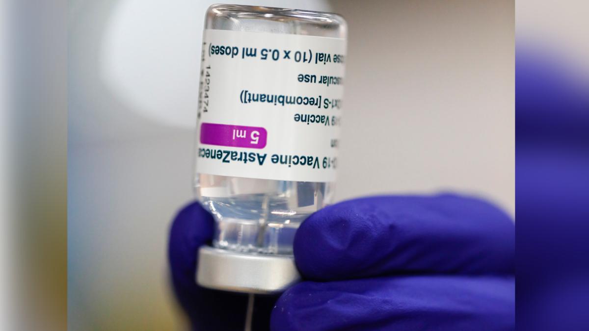 A medical worker prepares a syringe of the Astra Zeneca vaccine on Friday, April 9, 2021. (AP Photo/Lisa Leutner).