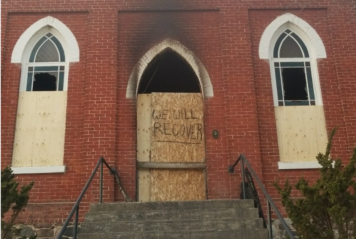 Fire caused extensive damage to the Wesleyville United Church north of Port Hope.