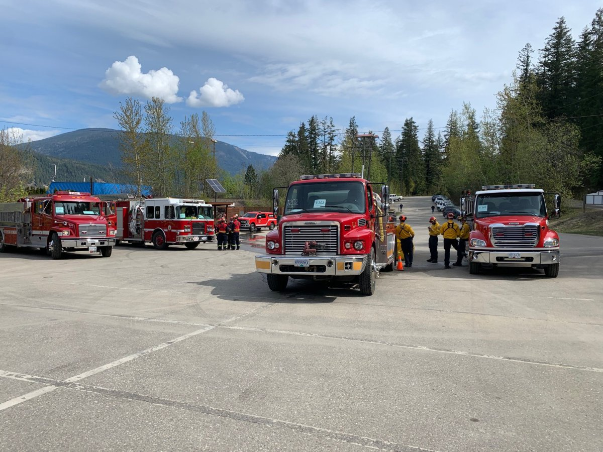 Members from 15 fire departments across the B.C. Interior gathered in Lake Country on Sunday to participate in wildfire training.
