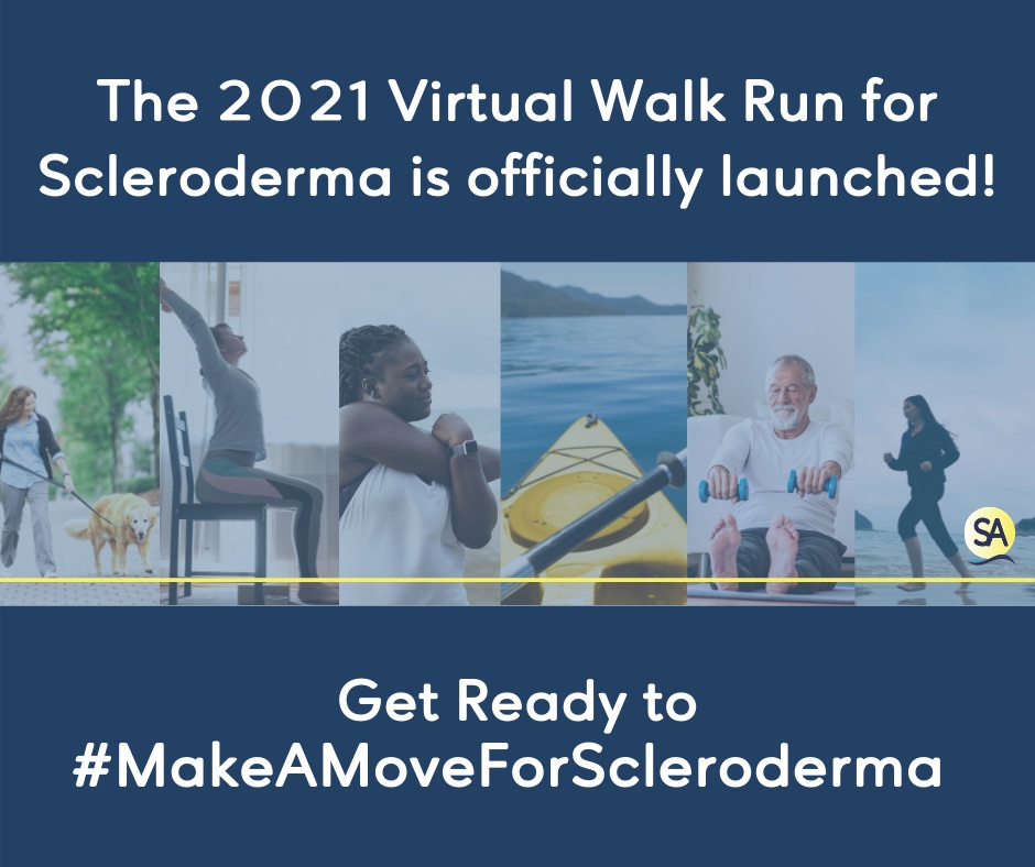 June is Scleroderma Awareness Month Join Us To Make A Difference in The Lives of Those Living with Scleroderma This year, we are hosting the Virtual Walk Run in the Park Atlantic Canadians will step out - or stay in - to walk, run, and get moving starting on May 17th and ending until June 30th. How To Participate We know that many of us are facing lockdowns, restrictions, and strange times. Despite this, we are banding together to show our support for this very important cause. We encourage all participants to get active in the best way that suits you and your location. Walk, run, bike, horseback ride, canoe, kayak - whatever suits your fancy. If you're getting active and moving your body, you're doing it right! Can't leave the house? Track your steps and do a few laps around your home! We encourage you to participate with us virtually on social media, showing off your creative ways to get active. Hashtag: #MakeAMoveForScleroderma and Tag: @SclerodermaAtlantic in your photos and videos or send them to us by email at info@sclerodermaatlantic.ca. Please note: Everyone is asked to follow the necessary Covid -19 protocols in their region. Your participation is a charitable donation. All of the funds you spend here will go directly towards our Atlantic organization, supporting the physical, mental, and financial health of those living with scleroderma and their caretakers. In addition, your donation will be used to support vital research into finding a cure.