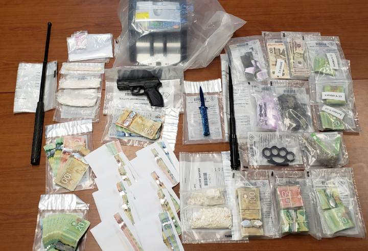 Police say officers executed search warrants in Bracebridge, Gravenhurst, Mississauga and Toronto on Wednesday, resulting in the arrest of four people and the seizure of drugs.