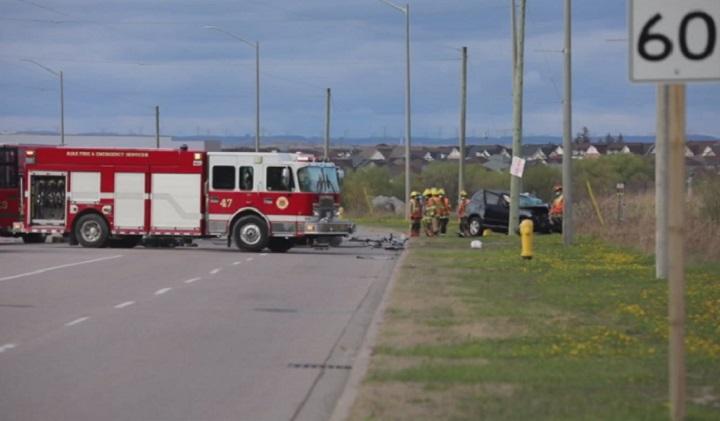 The crash happened on Salem Road just after 6:45 p.m. on Wednesday.