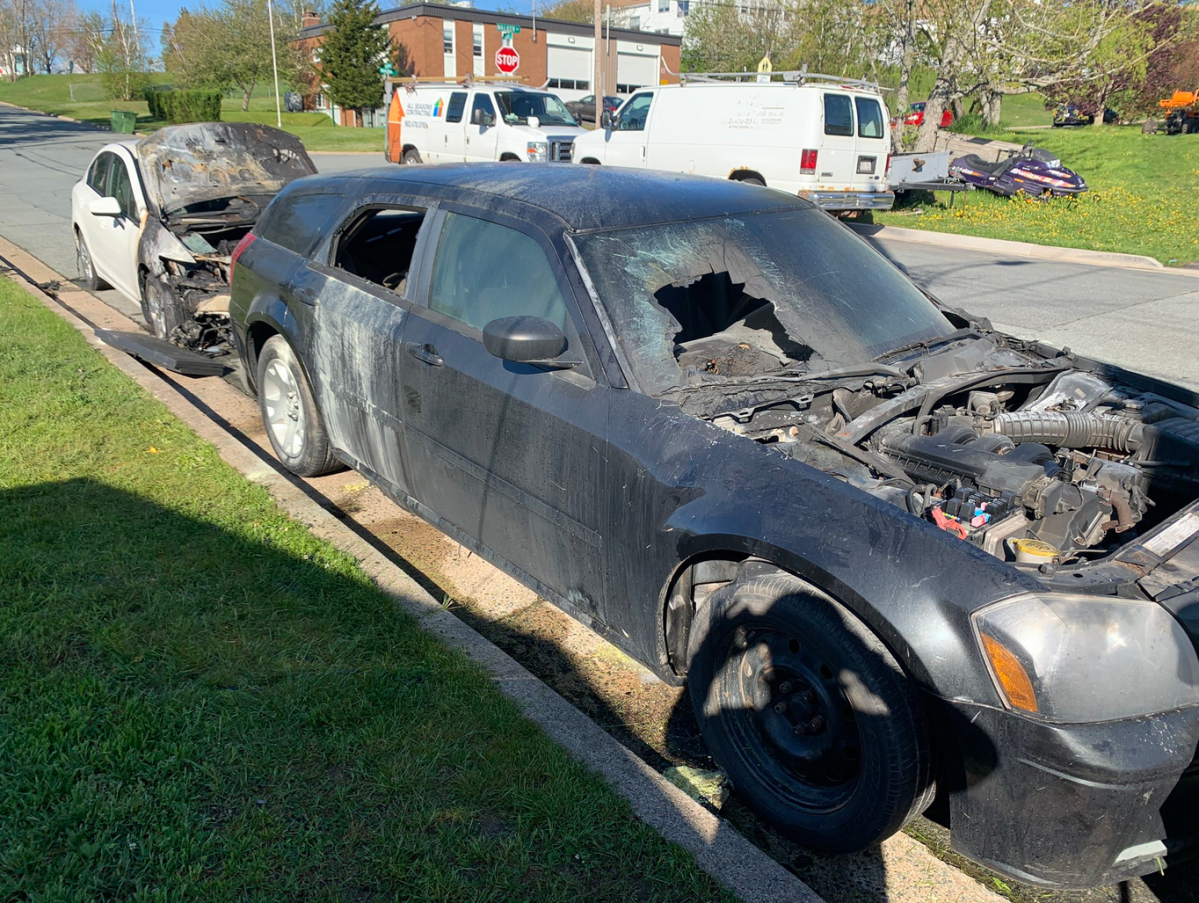 Police say six cars on Walker Street in Dartmouth were set on fire early Wednesday morning.
