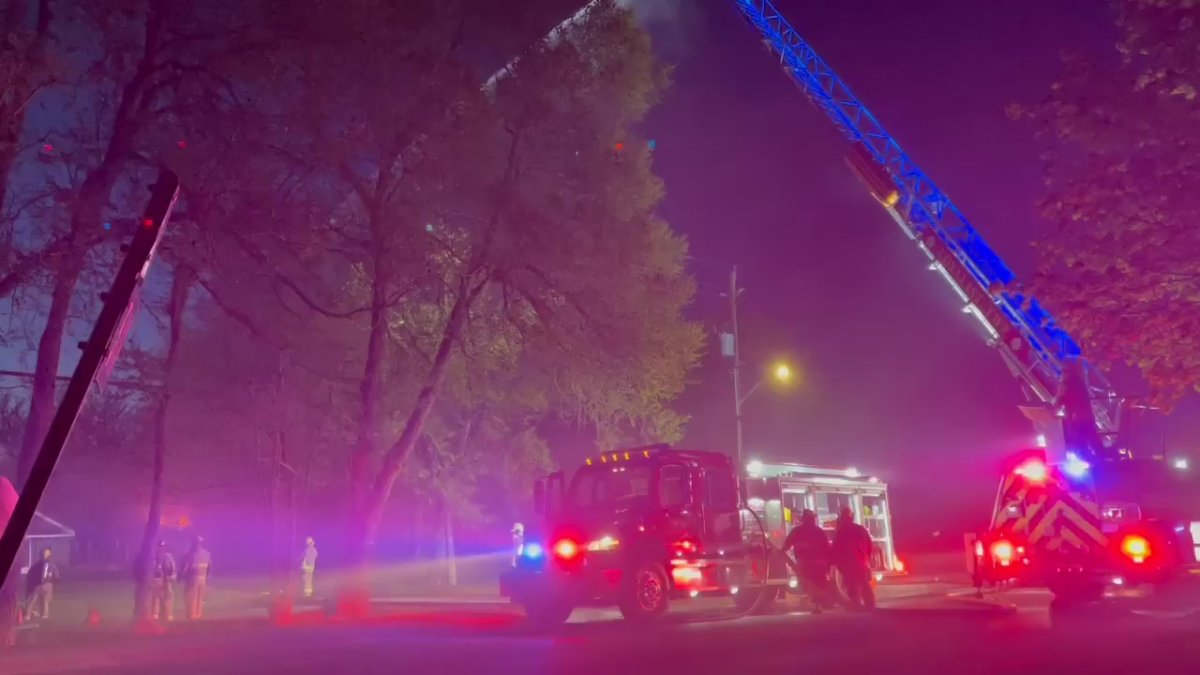Loyalist firefighters battled a large house fire Friday evening in Bath, Ont.